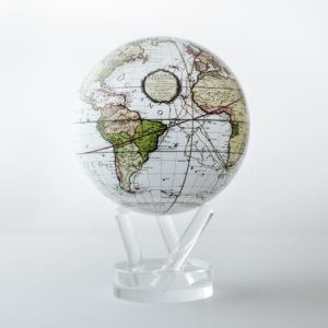 mova globe antique white terrestial