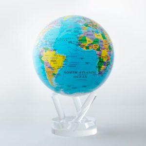 mova globe political map blue