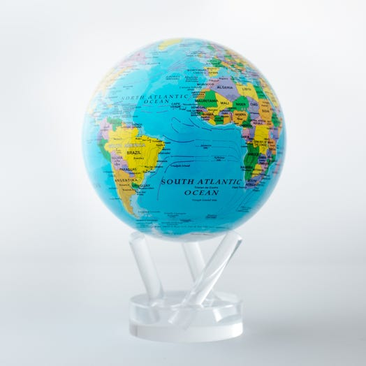 mova globe political map blue