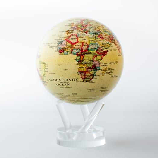 mova globe political map yellow