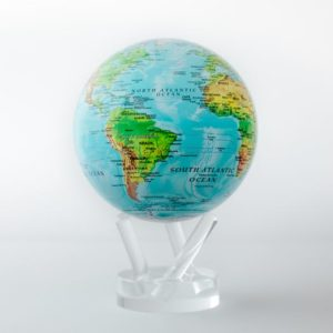 mova globe relief map blue
